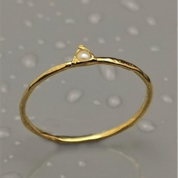 Δ02359 Δαχτυλίδι, ασήμι 925 και επιχρυσωμένο 18Κ, με ημιπολύτιμο λίθο. ΔΑΧΤΥΛΙΔΙΑ ΑΣΗΜΙ 925