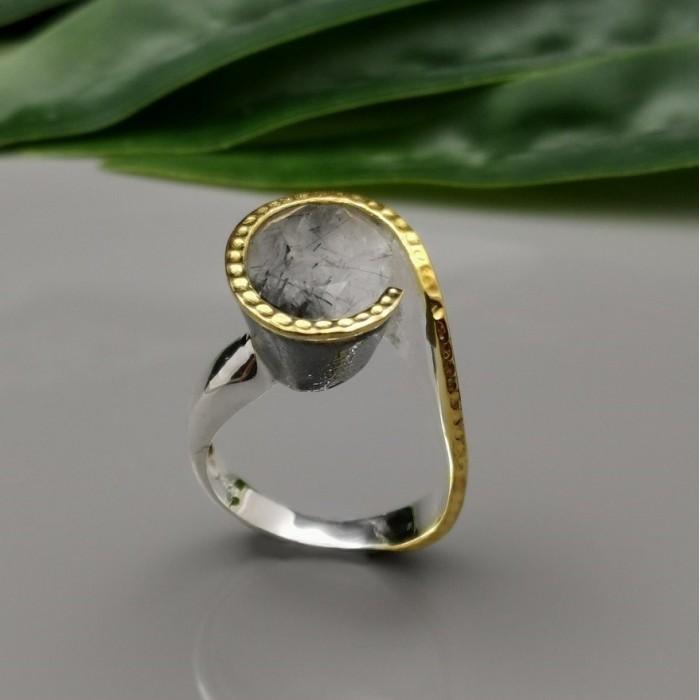 Δ02528 Δαχτυλίδι χειροποίητο, ασήμι 925 με ημιπολύτιμους λίθους.   ΔΑΧΤΥΛΙΔΙΑ ΑΣΗΜΙ 925