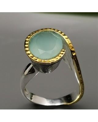 Δ02528 Δαχτυλίδι χειροποίητο, ασήμι 925 με ημιπολύτιμους λίθους.