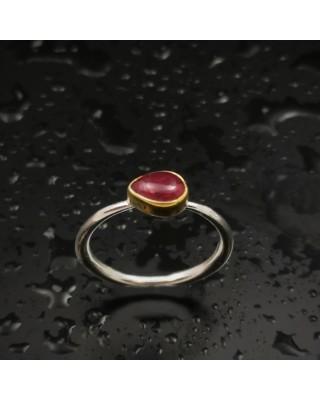 Δ03195 Δαχτυλίδι χειροποίητο, από ασήμι 925 με free size Τουρμαλίνη