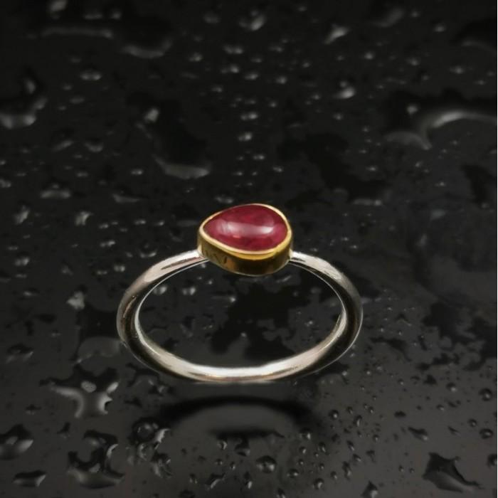 Δ03195 Δαχτυλίδι χειροποίητο, από ασήμι 925 με free size Τουρμαλίνη  ΔΑΧΤΥΛΙΔΙΑ ΑΣΗΜΙ 925