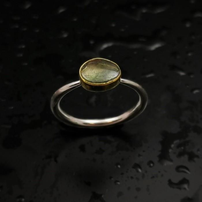Δ03197 Δαχτυλίδι χειροποίητο, από ασήμι 925 με free size Τουρμαλίνη ΔΑΧΤΥΛΙΔΙΑ ΑΣΗΜΙ 925